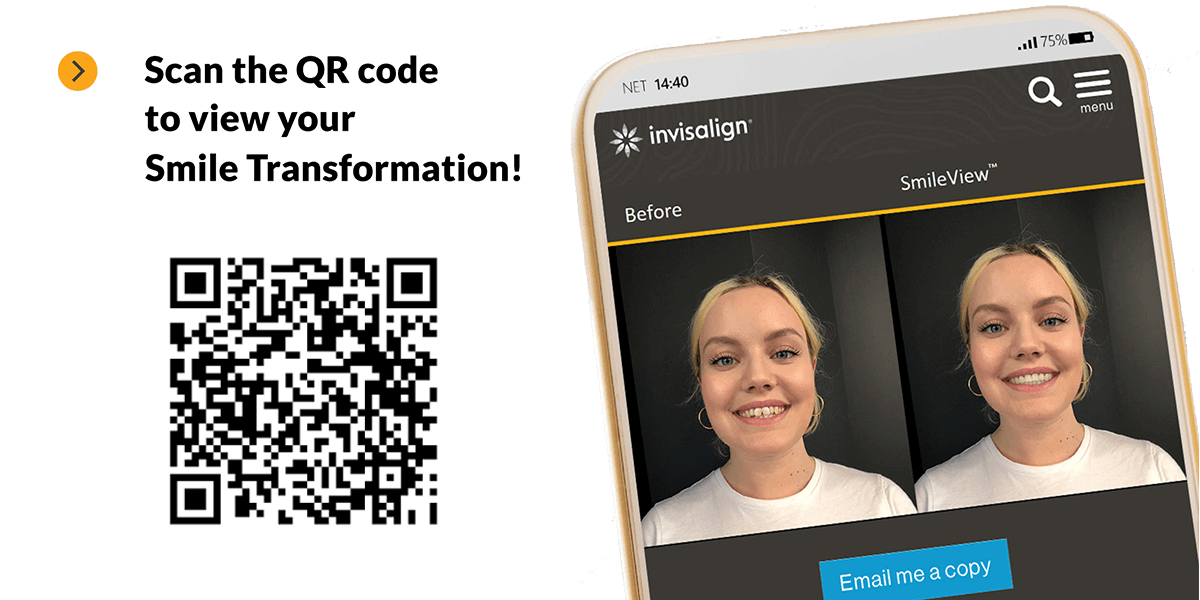 Scan the QR Code to view your Smile Transformation!